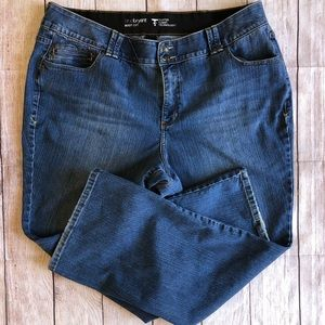 Lane Bryant Bootcut Jeans Tighter Tummy 22 EUC